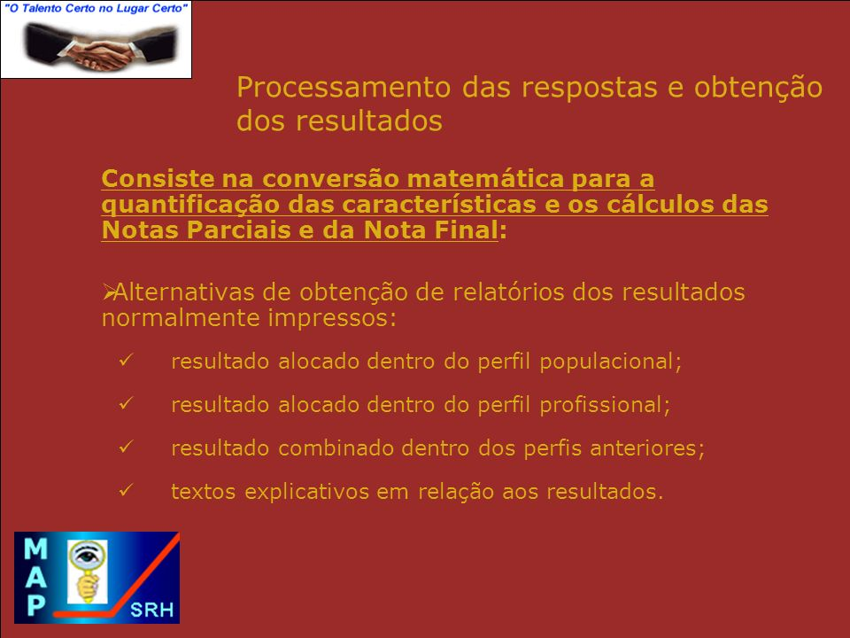 Processamento das respostas e obtenção dos resultados