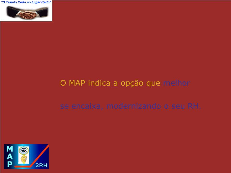 O MAP indica a opção que melhor