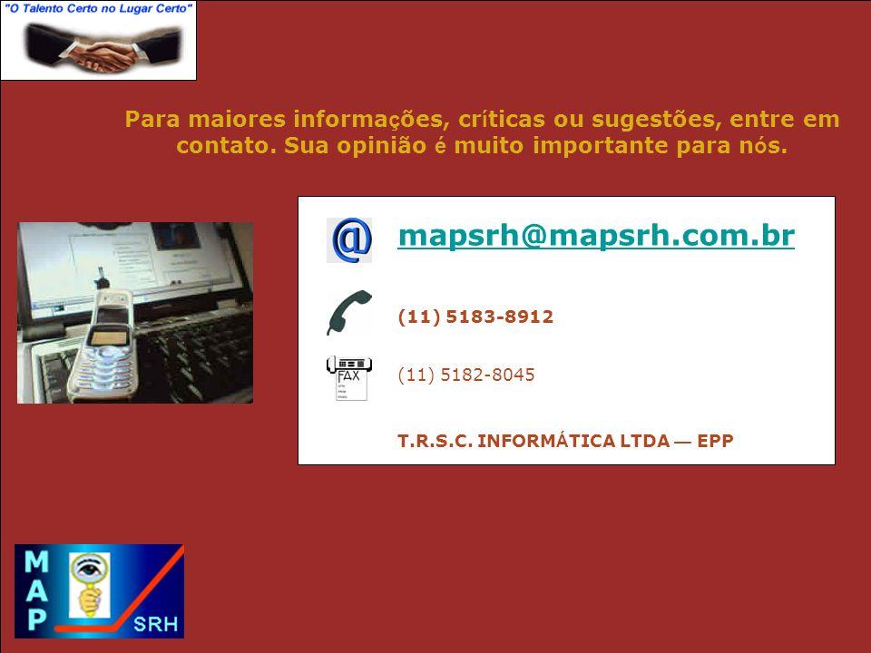 T.R.S.C. INFORMÁTICA LTDA — EPP