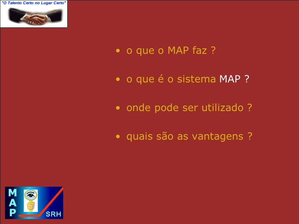 o que o MAP faz o que é o sistema MAP onde pode ser utilizado quais são as vantagens