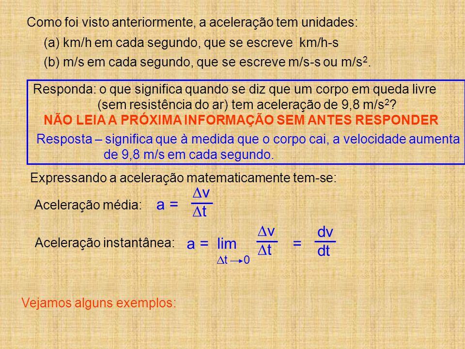 v t a = v dv t dt a = lim =