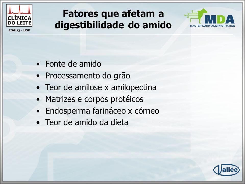 Fatores que afetam a digestibilidade do amido