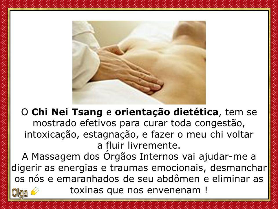 O Chi Nei Tsang e orientação dietética, tem se mostrado efetivos para curar toda congestão, intoxicação, estagnação, e fazer o meu chi voltar