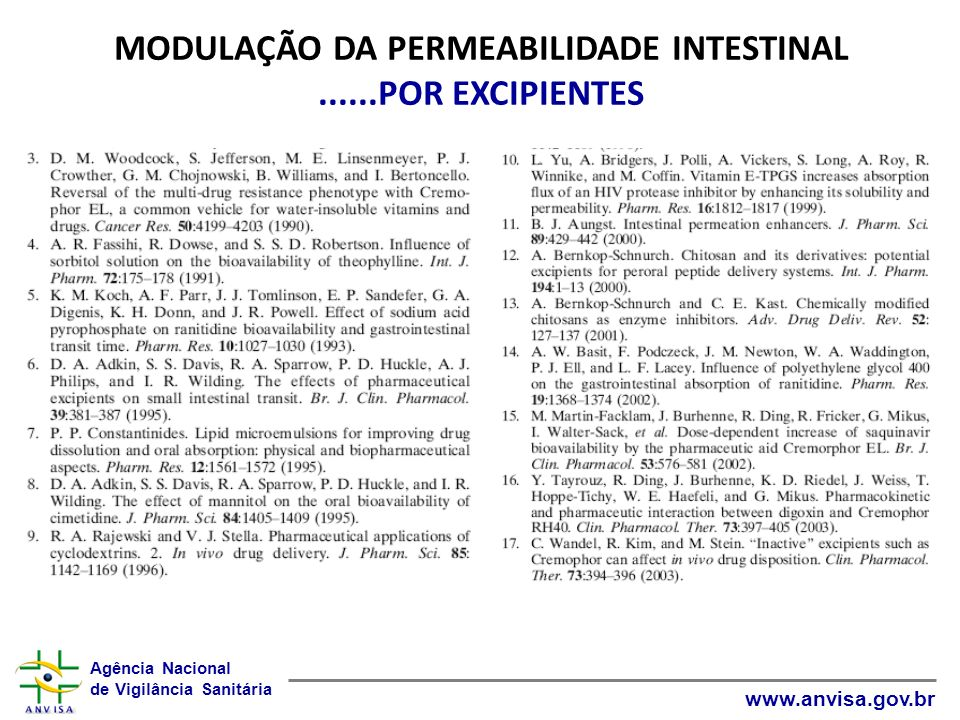 MODULAÇÃO DA PERMEABILIDADE INTESTINAL ......POR EXCIPIENTES