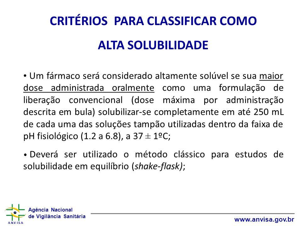 CRITÉRIOS PARA CLASSIFICAR COMO