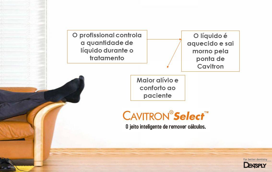 O profissional controla a quantidade de líquido durante o tratamento