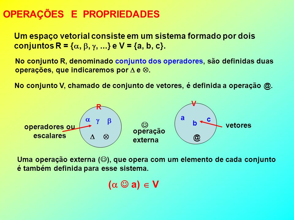 OPERAÇÕES E PROPRIEDADES