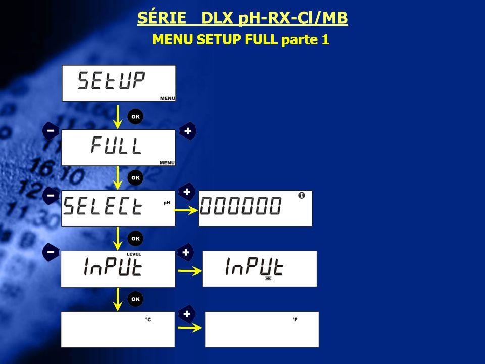 SÉRIE DLX pH-RX-Cl/MB MENU SETUP FULL parte 1