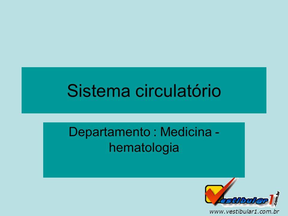 Departamento : Medicina - hematologia