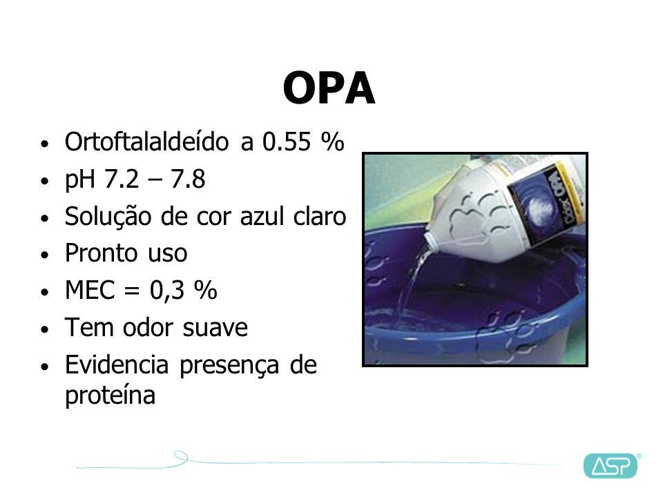 OPA Ortoftalaldeído a 0.55 % pH 7.2 – 7.8 Solução de cor azul claro