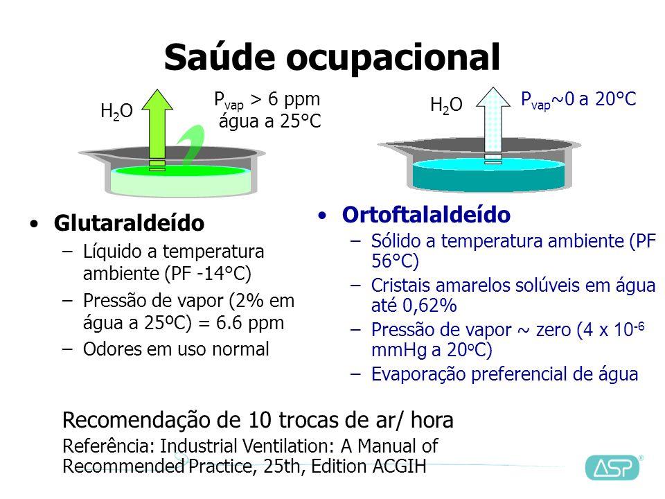 Saúde ocupacional Ortoftalaldeído Glutaraldeído
