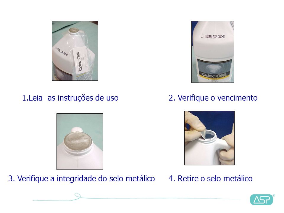3. Verifique a integridade do selo metálico