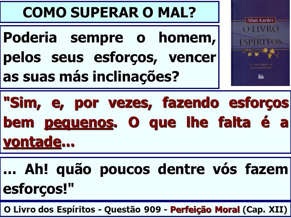 O Livro dos Espíritos - Questão 909 - Perfeição Moral (Cap. XII)