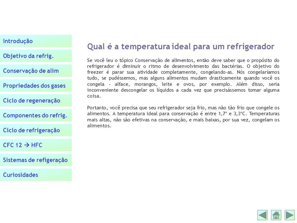 Qual é a temperatura ideal para um refrigerador
