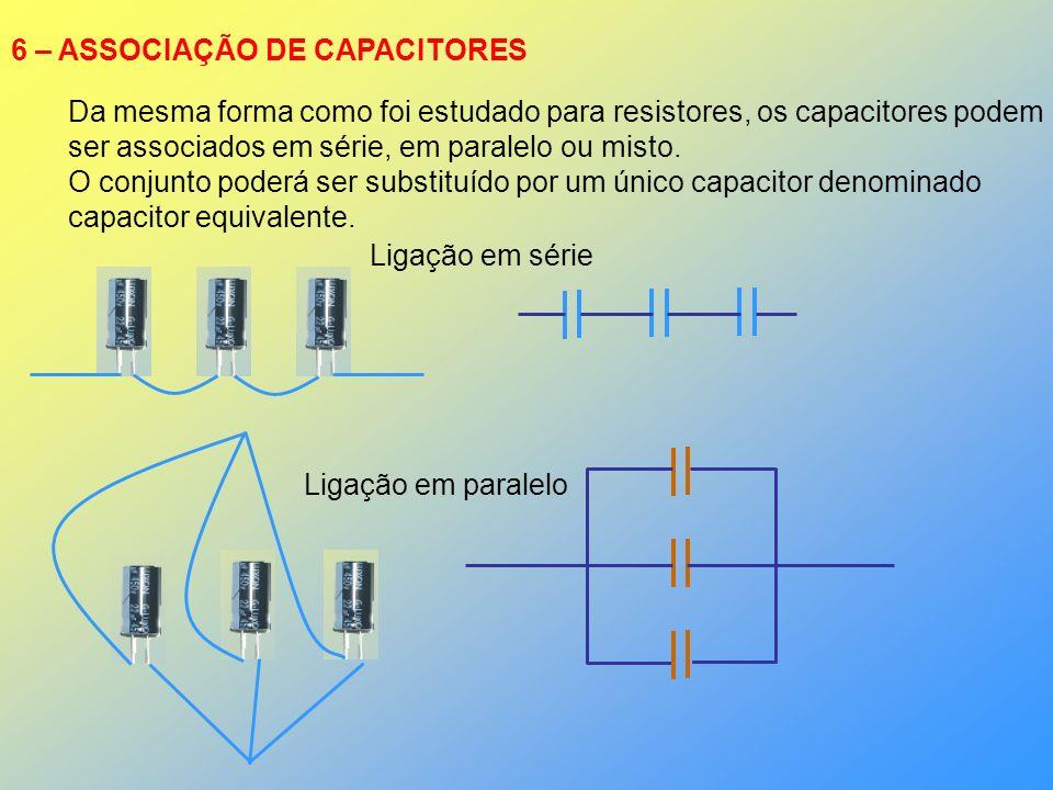 6 – ASSOCIAÇÃO DE CAPACITORES
