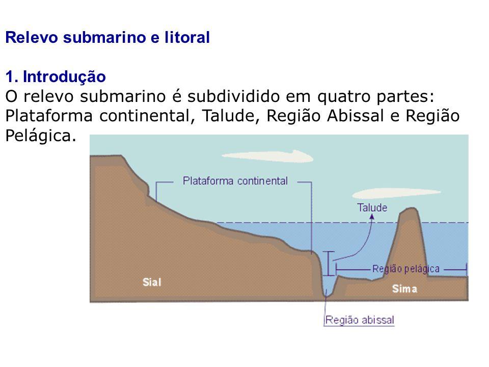 Relevo submarino e litoral