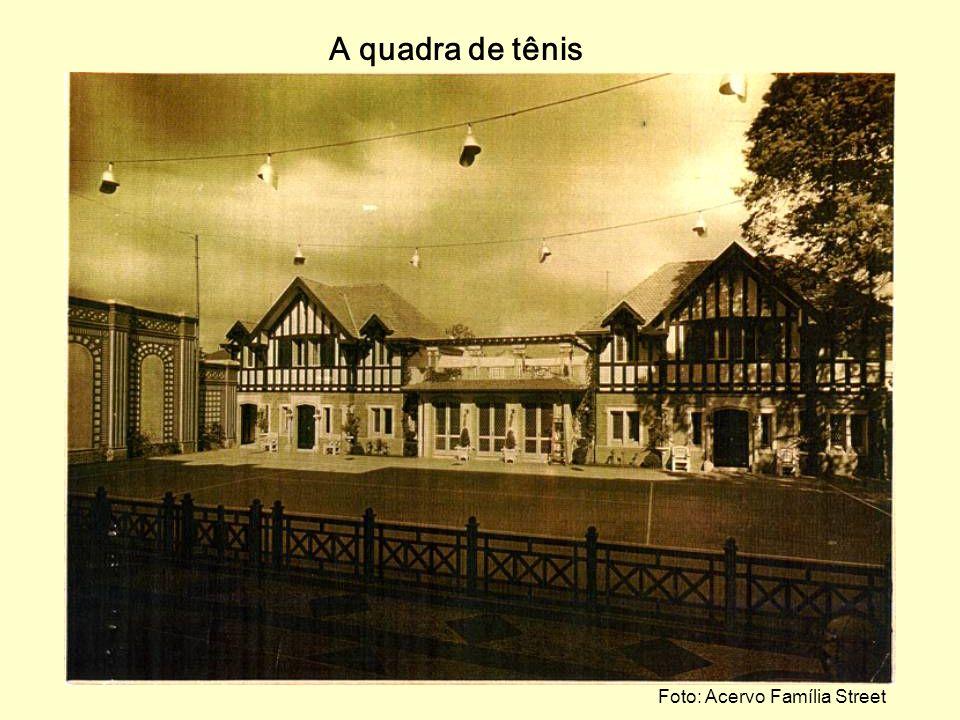 A quadra de tênis Foto: Acervo Família Street