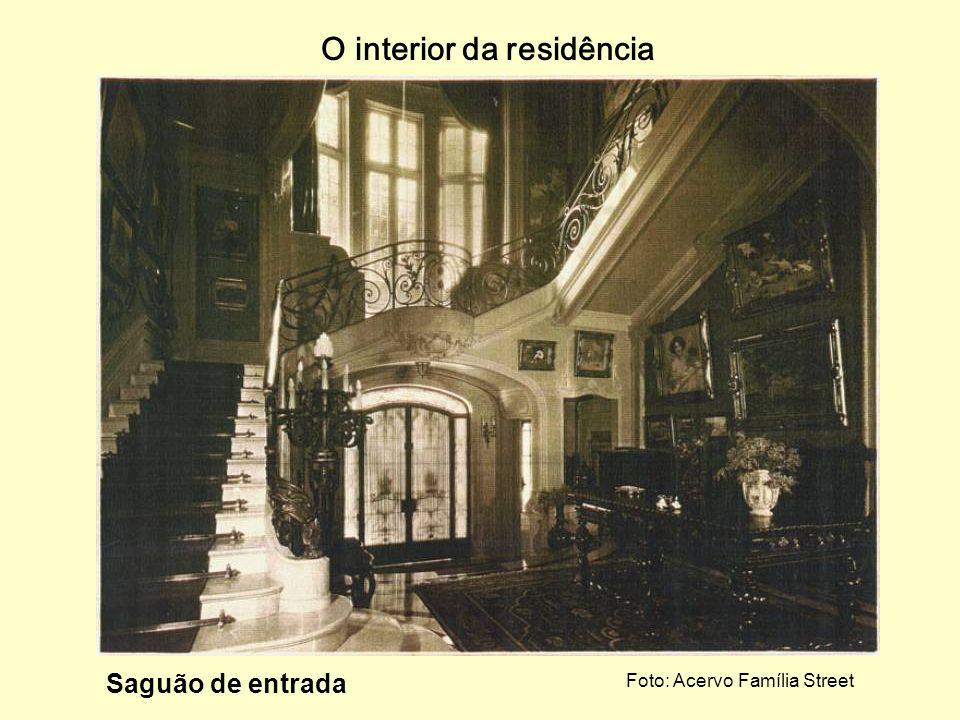 O interior da residência