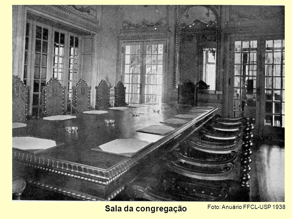 Sala da congregação Foto: Anuário FFCL-USP 1938
