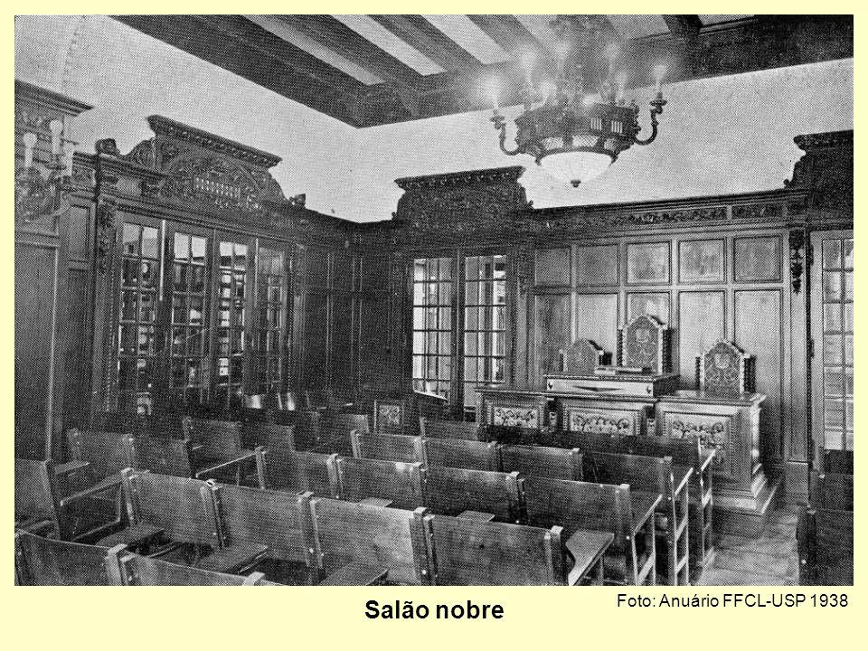 Salão nobre Foto: Anuário FFCL-USP 1938