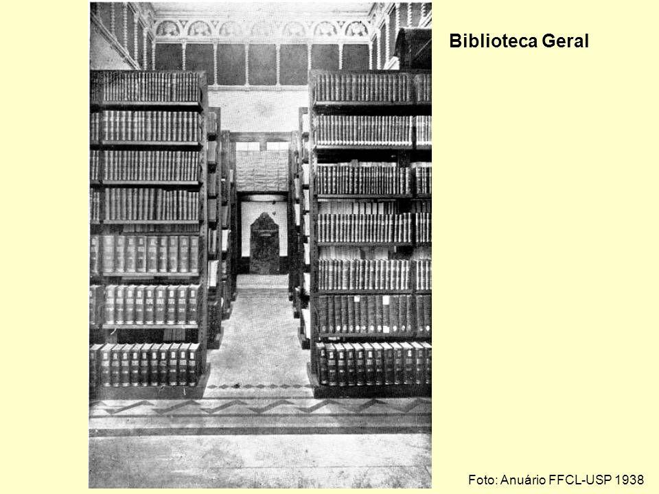 Biblioteca Geral Foto: Anuário FFCL-USP 1938