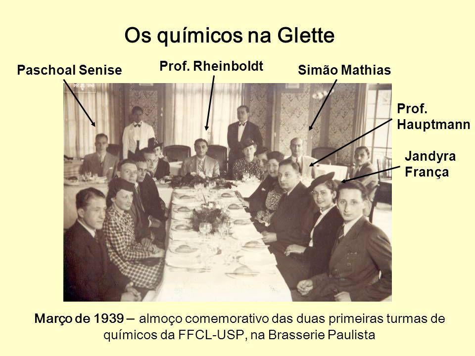 Os químicos na Glette Prof. Rheinboldt Paschoal Senise Simão Mathias
