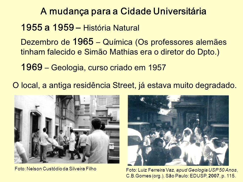A mudança para a Cidade Universitária