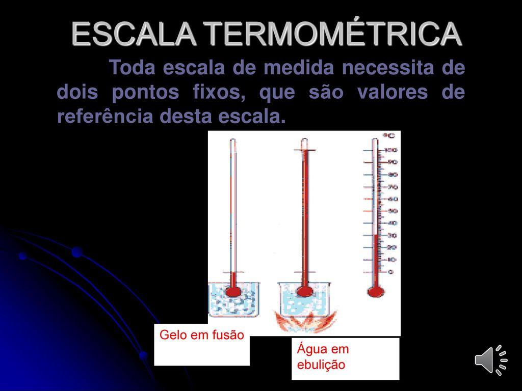 Termologia termometria ppt carregar for Escala de medidas