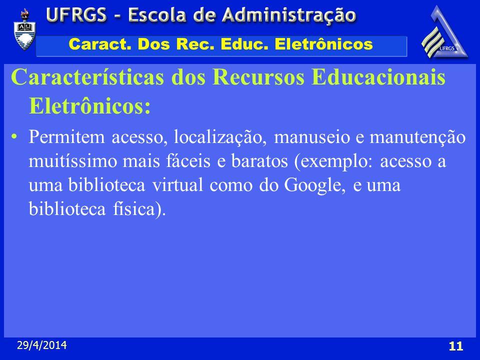 Caract. Dos Rec. Educ. Eletrônicos