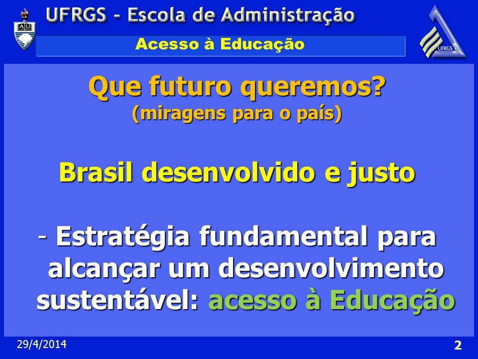 Brasil desenvolvido e justo