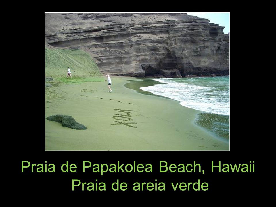 Praia de Papakolea Beach, Hawaii
