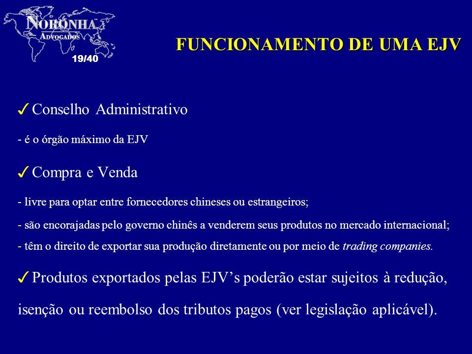 FUNCIONAMENTO DE UMA EJV