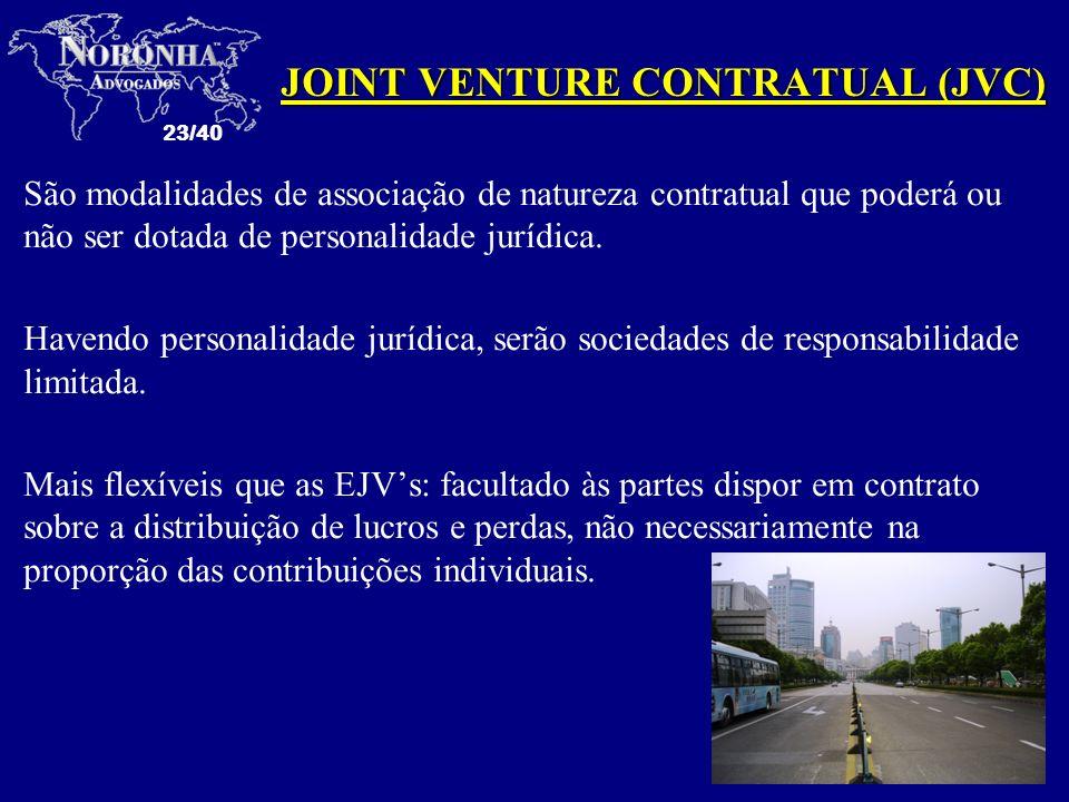 JOINT VENTURE CONTRATUAL (JVC)