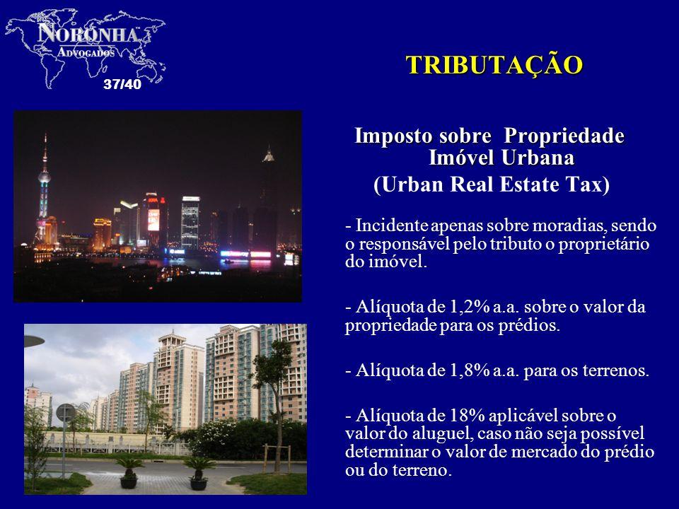Imposto sobre Propriedade Imóvel Urbana (Urban Real Estate Tax)