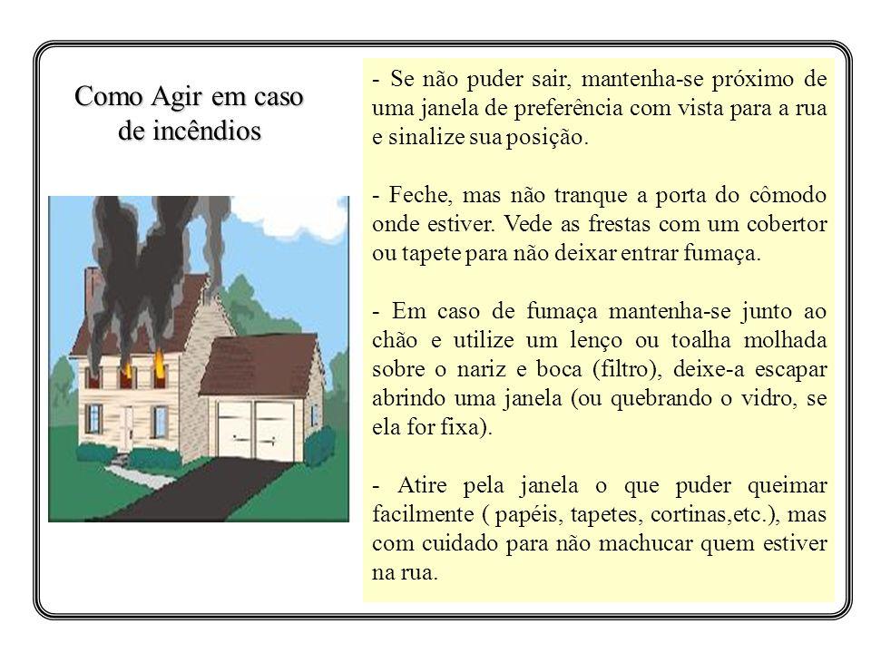Como Agir em caso de incêndios
