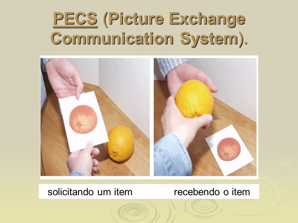 PECS (Picture Exchange Communication System).