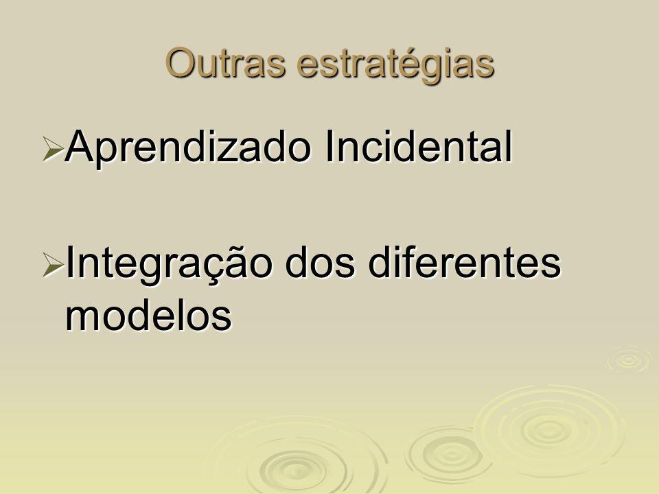 Aprendizado Incidental Integração dos diferentes modelos