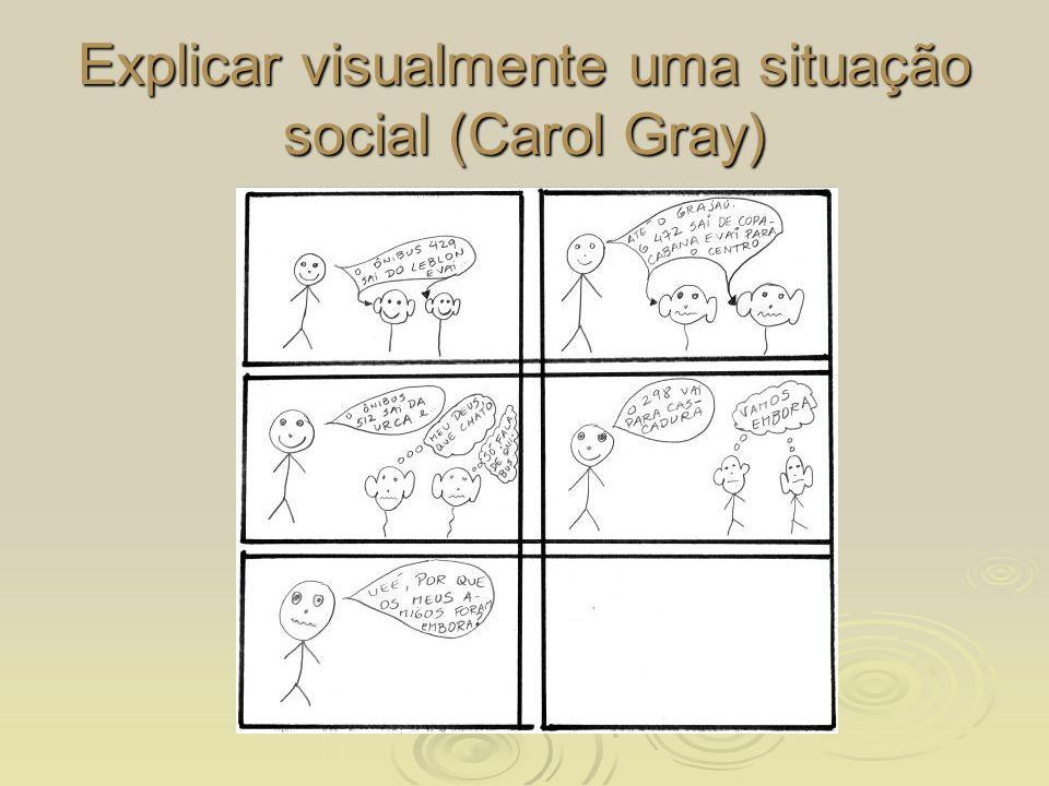 Explicar visualmente uma situação social (Carol Gray)