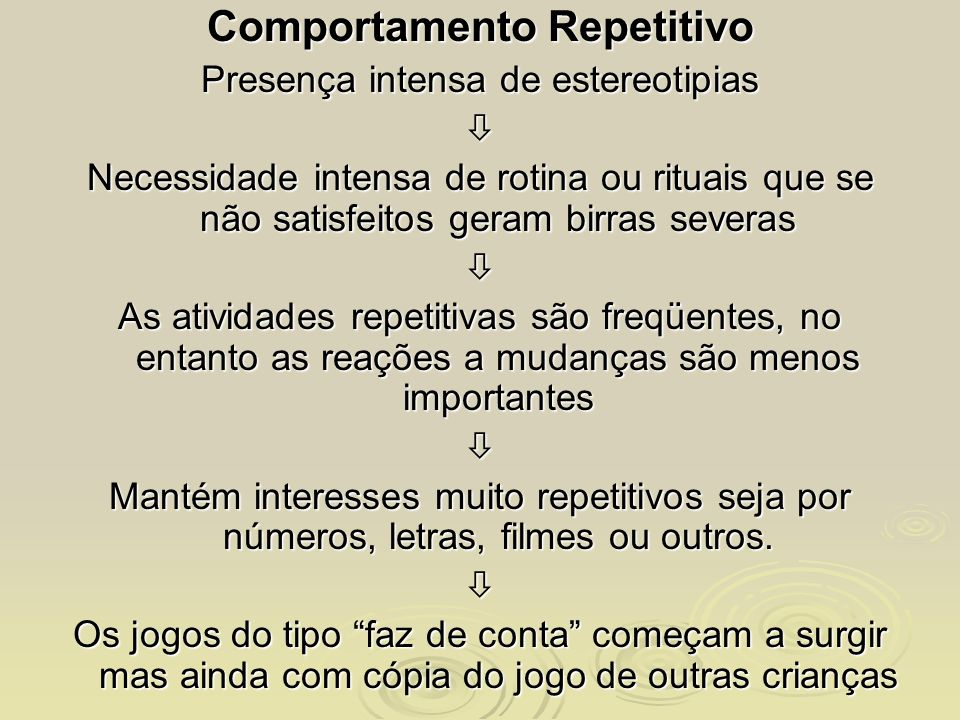 Comportamento Repetitivo