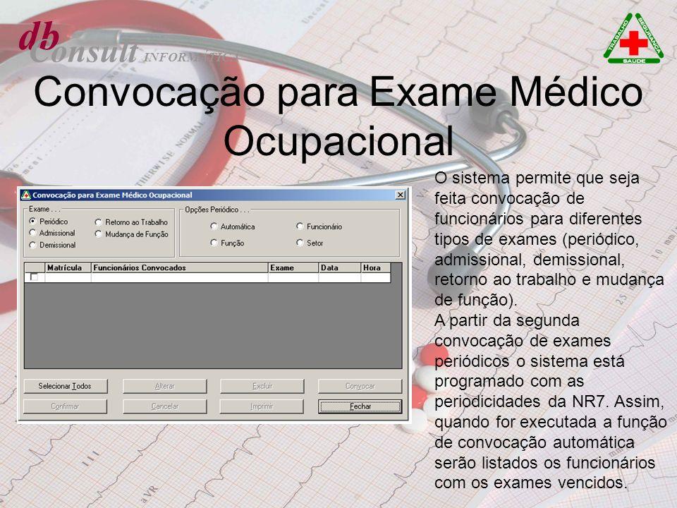 Convocação para Exame Médico Ocupacional