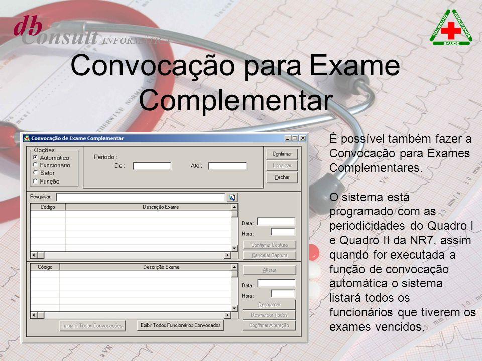 Convocação para Exame Complementar