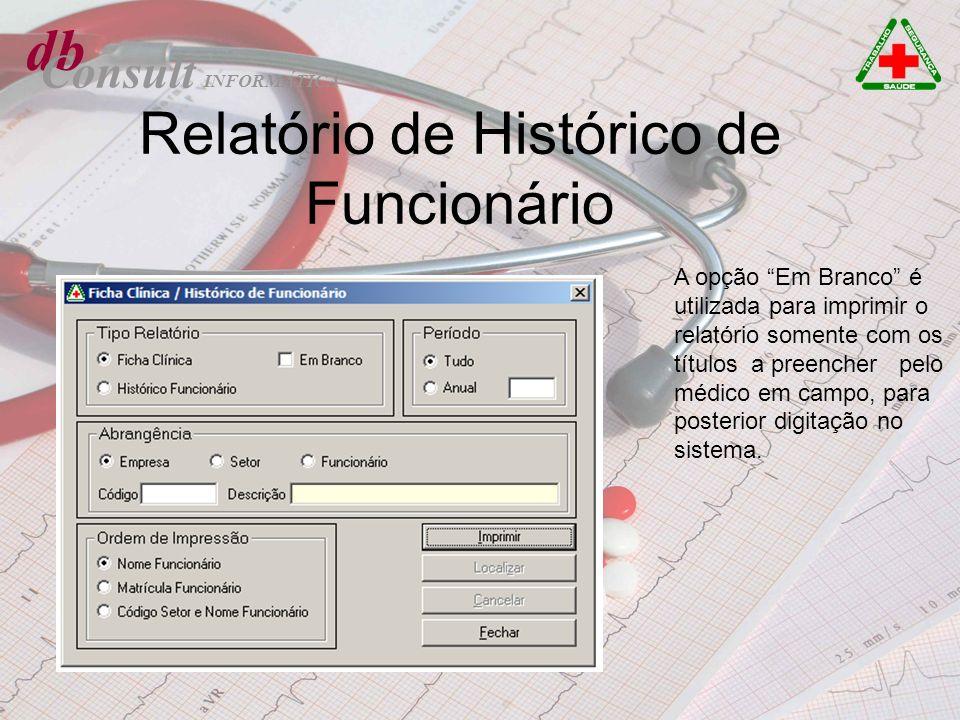 Relatório de Histórico de Funcionário