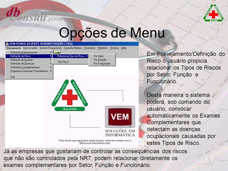 db Opções de Menu Consult