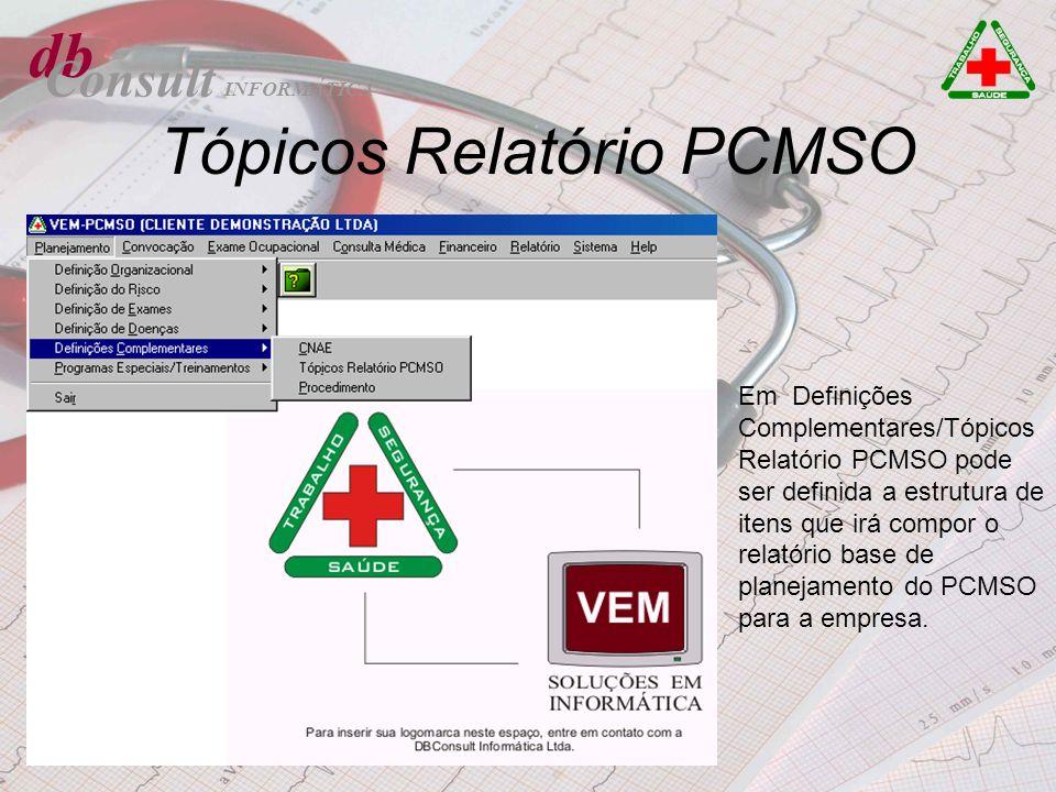 Tópicos Relatório PCMSO