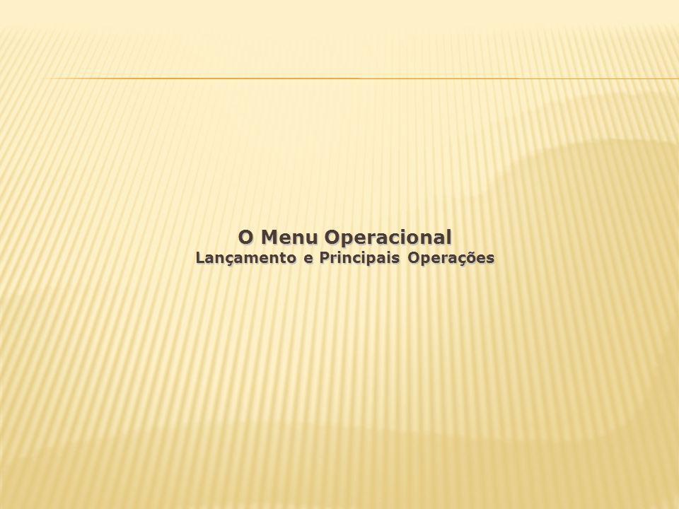 Lançamento e Principais Operações