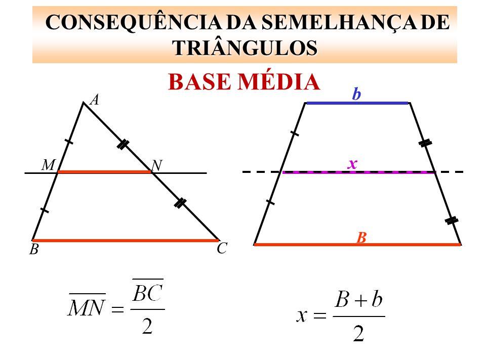 CONSEQUÊNCIA DA SEMELHANÇA DE TRIÂNGULOS