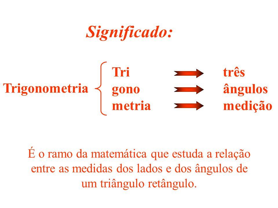 Significado: Tri três gono ângulos Trigonometria metria medição