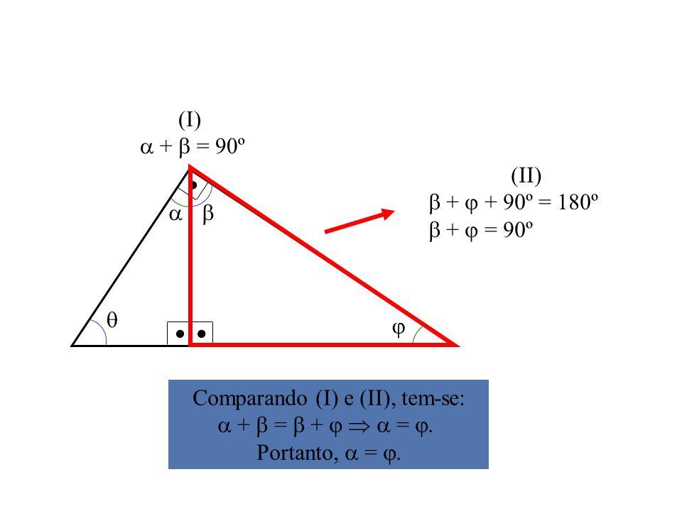 Comparando (I) e (II), tem-se: