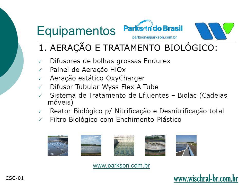 Equipamentos www.wischral-br.com.br 1. AERAÇÃO E TRATAMENTO BIOLÓGICO: