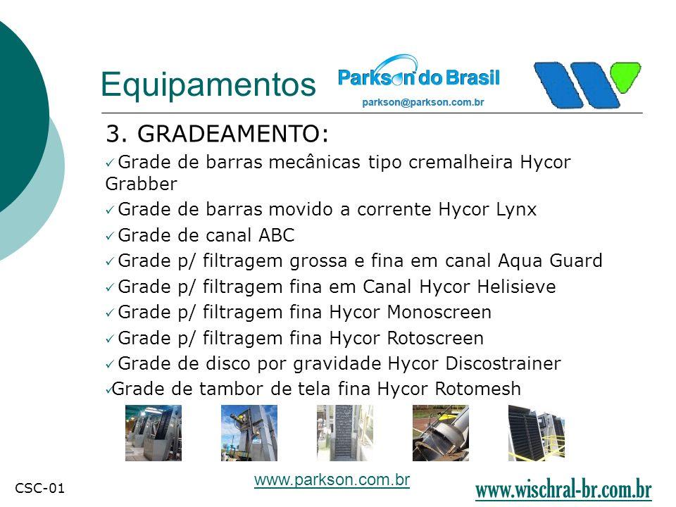 Equipamentos www.wischral-br.com.br 3. GRADEAMENTO: